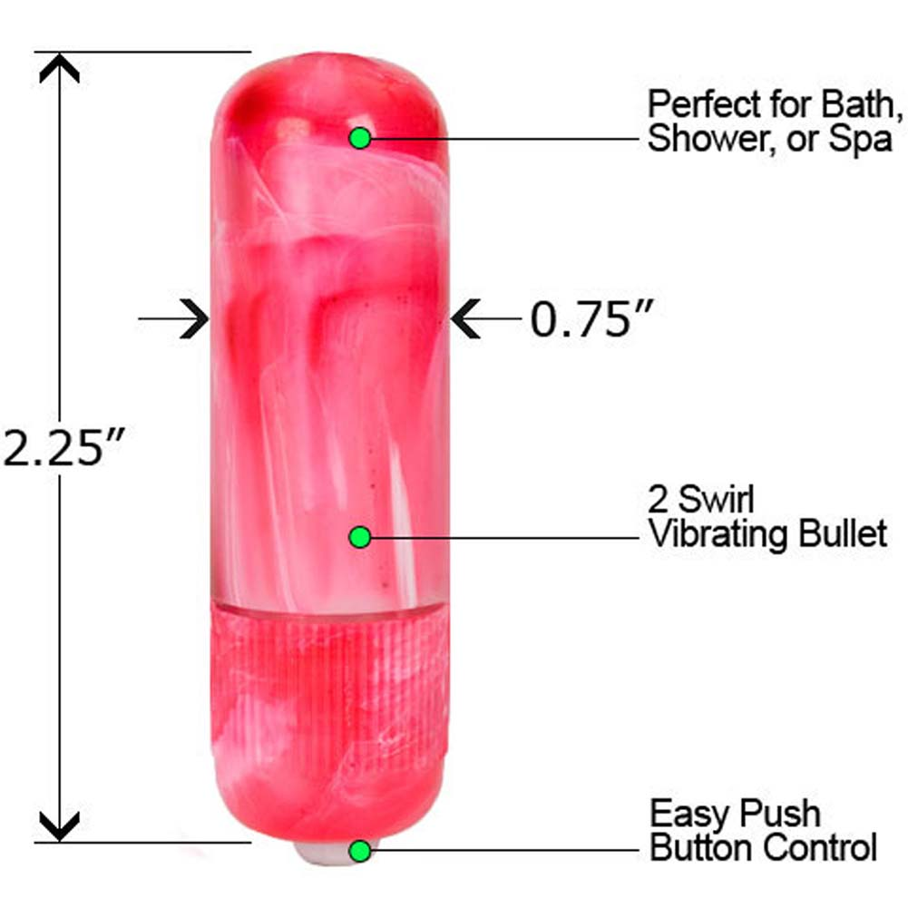 Powerful Pulsators Waterproof Vibrating Bullet Pink - View #1