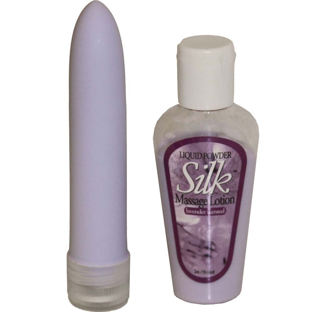 "Velvet and Silk Kit 5"" Vibe and Lavender Massage Lotion - View #2"