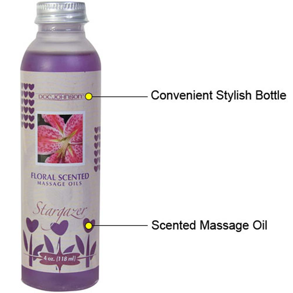 Floral Scented Massage Oil Stargazer 4 Fl. Oz. - View #1