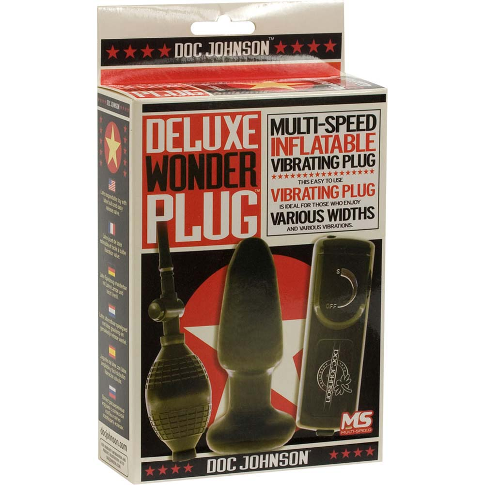"""Deluxe Wonder Inflatable Vibrating Plug 5"""" Black. - View #4"""