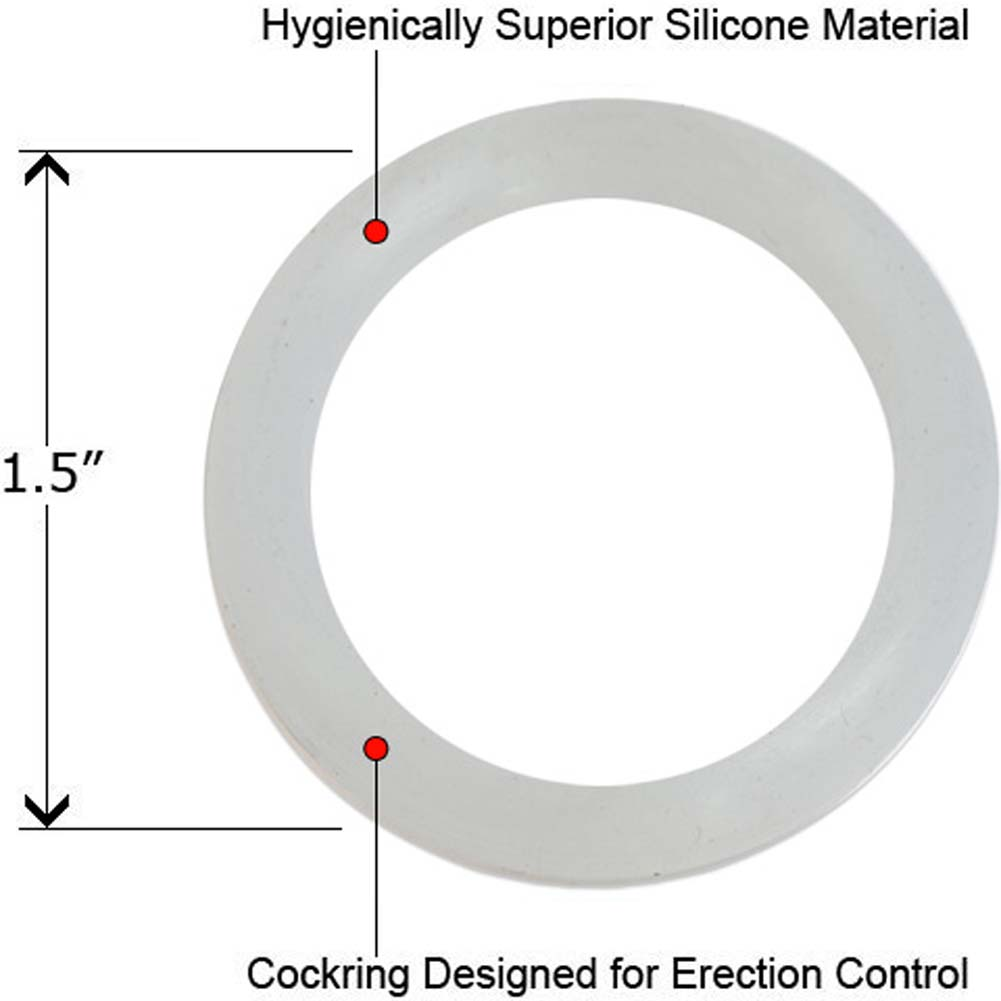 """Silicone Love Ring Small 1.5"""" Clear - View #1"""