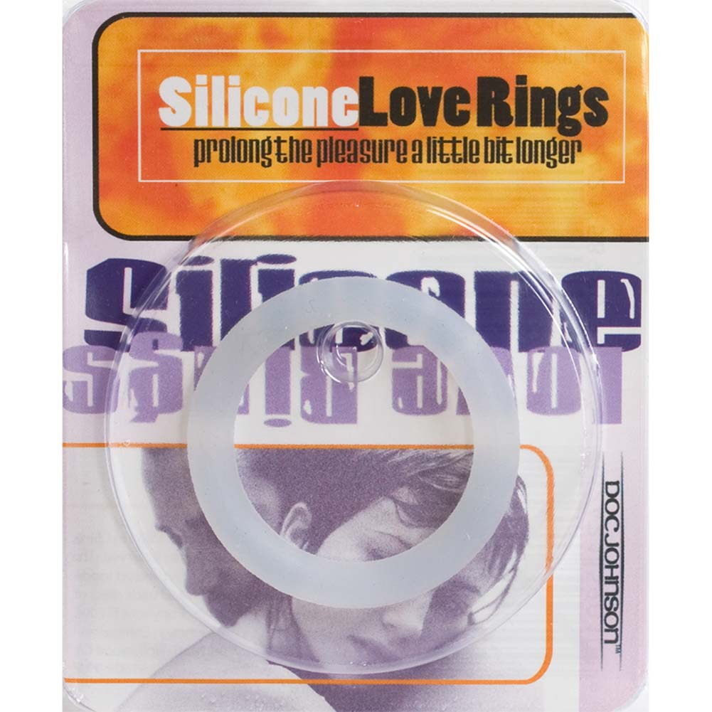 "Silicone Love Ring Small 1.5"" Clear - View #3"