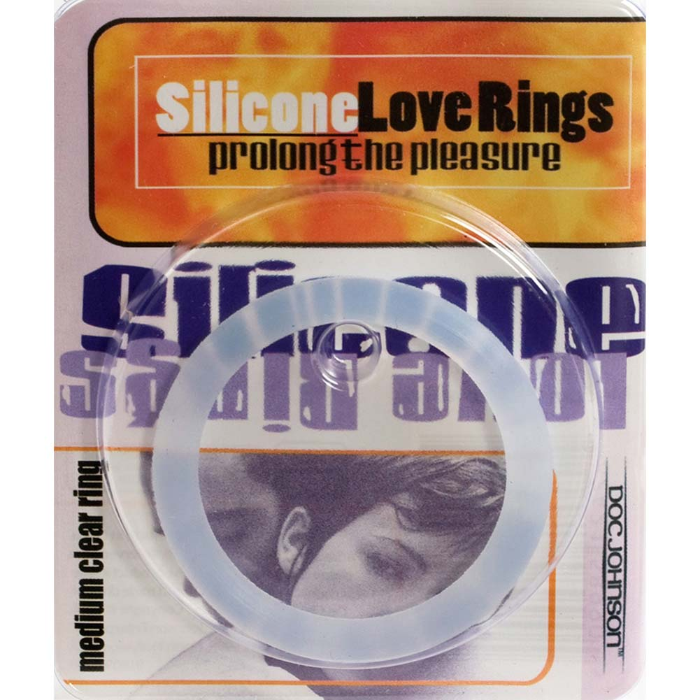"Silicone Love Ring Medium 1.75"" Clear - View #3"