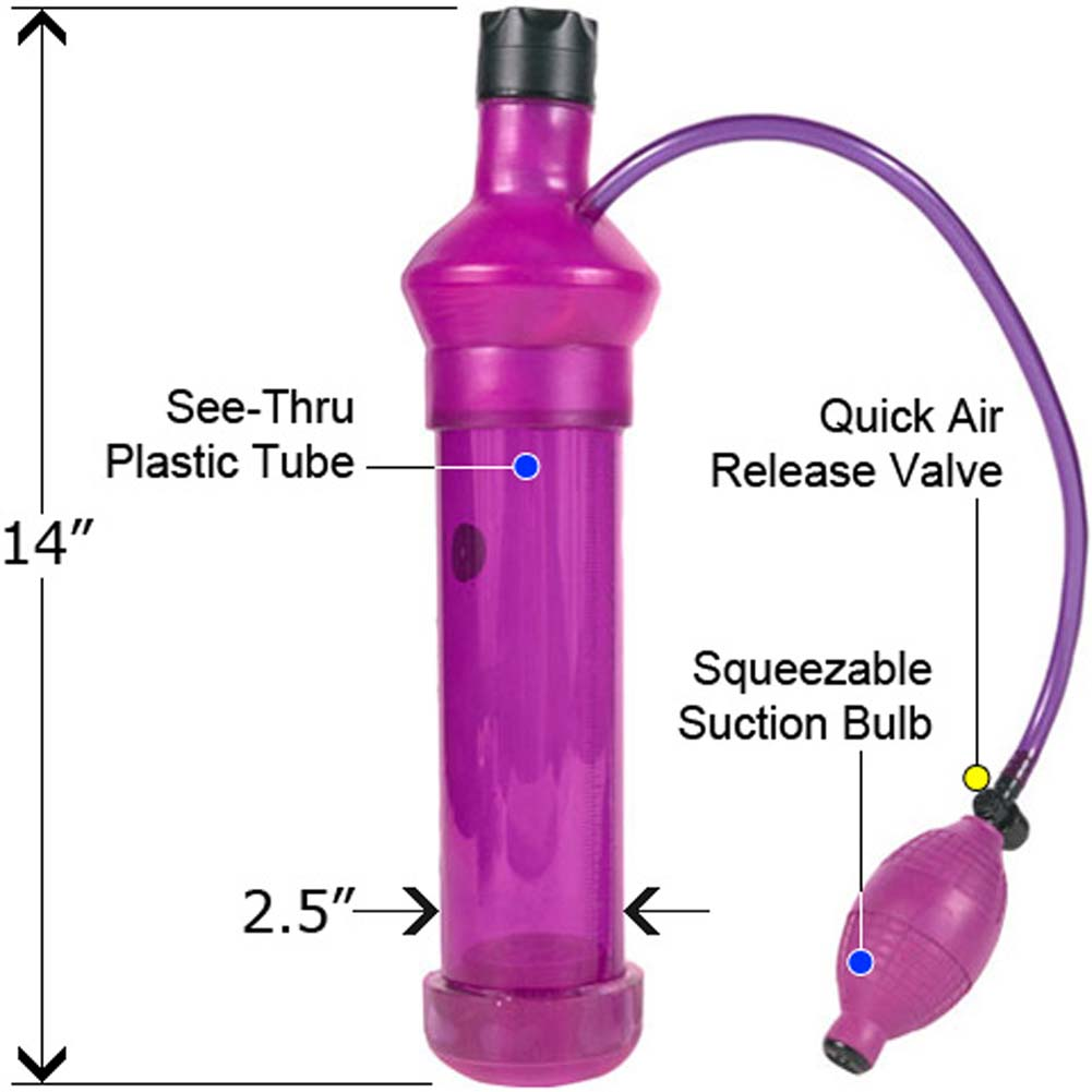 Peter Sucker Multi Speed Vibrating Penis Pump Purple Haze - View #1