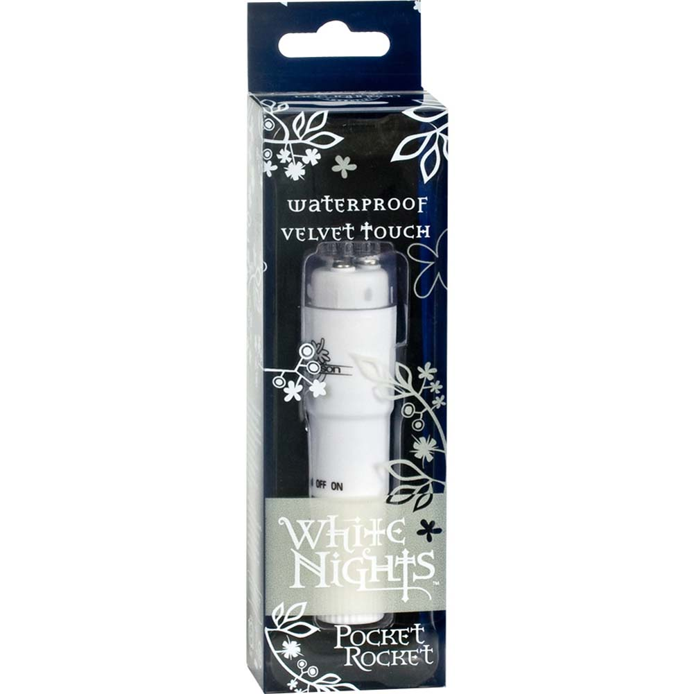 "White Nights Pocket Rocket Waterproof Vibe 4"" White - View #3"