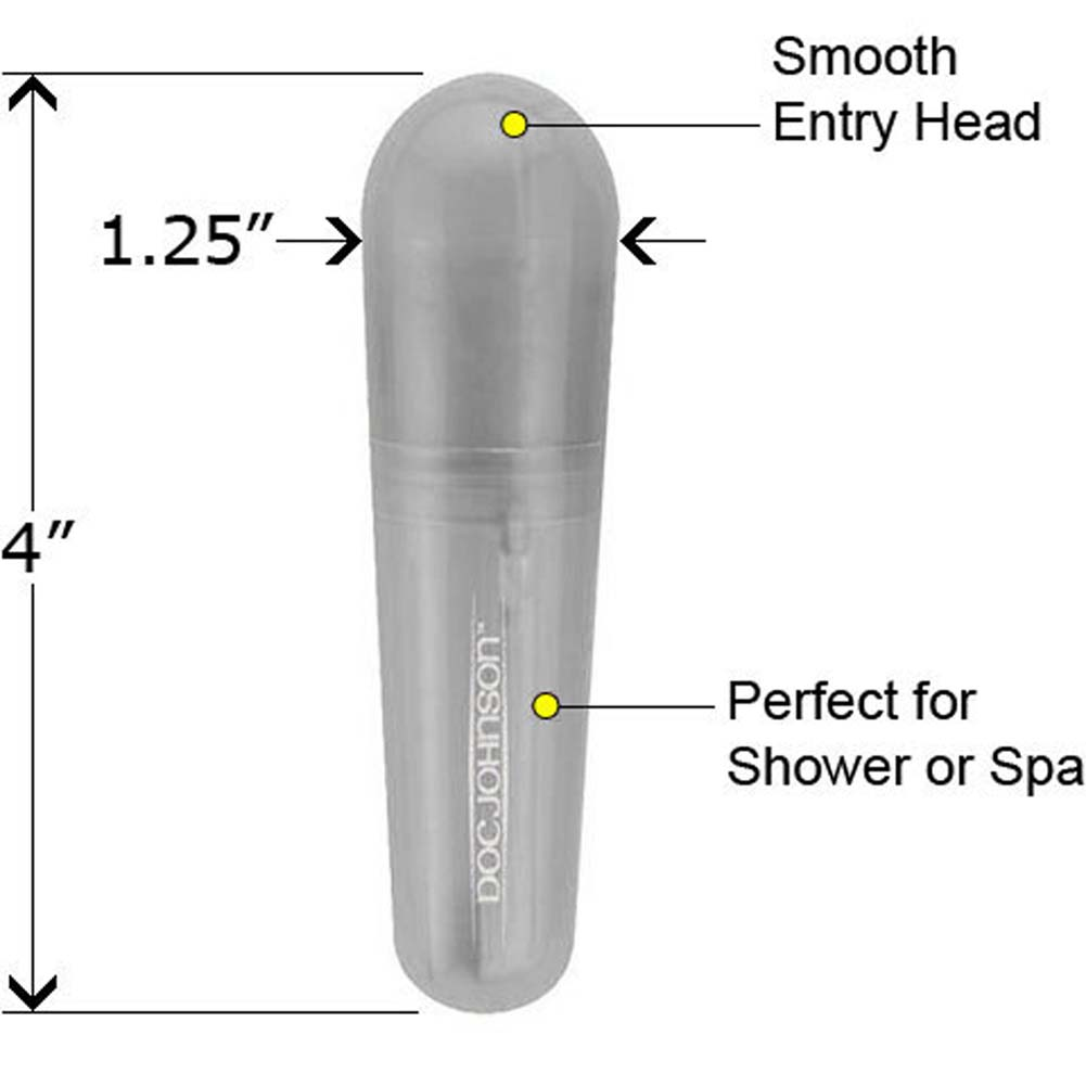 "Go Vibe Waterproof Personal Massager 4"" Clear - View #1"