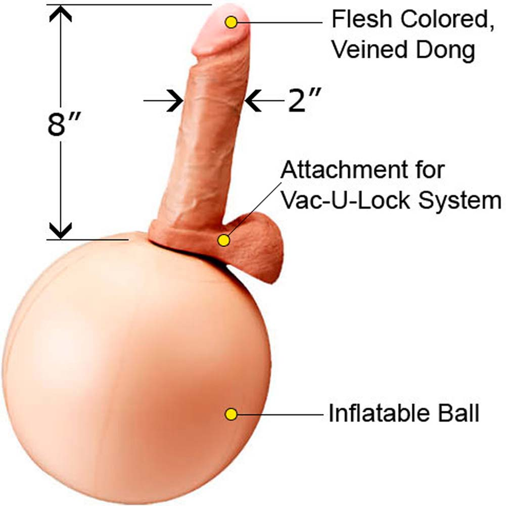 "Vac-U-Lock EZ Rider Rocker Ball With 8"" Realistic Dong - View #1"