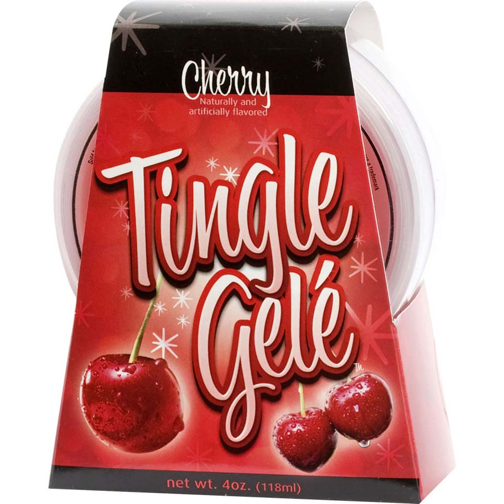 Tingle Gele Edible Sensual Lube 4 Fl. Oz Cherry - View #3