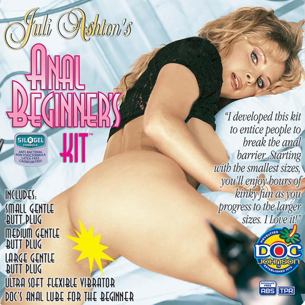"Juli Ashton Anal Beginners Kit with Vibrator 8.75"" Pink - View #4"