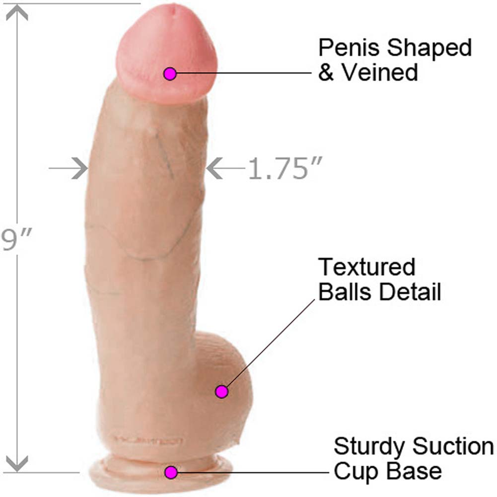 "James Deen Realistic Cock with Suction Mount 9"" Natural - View #1"