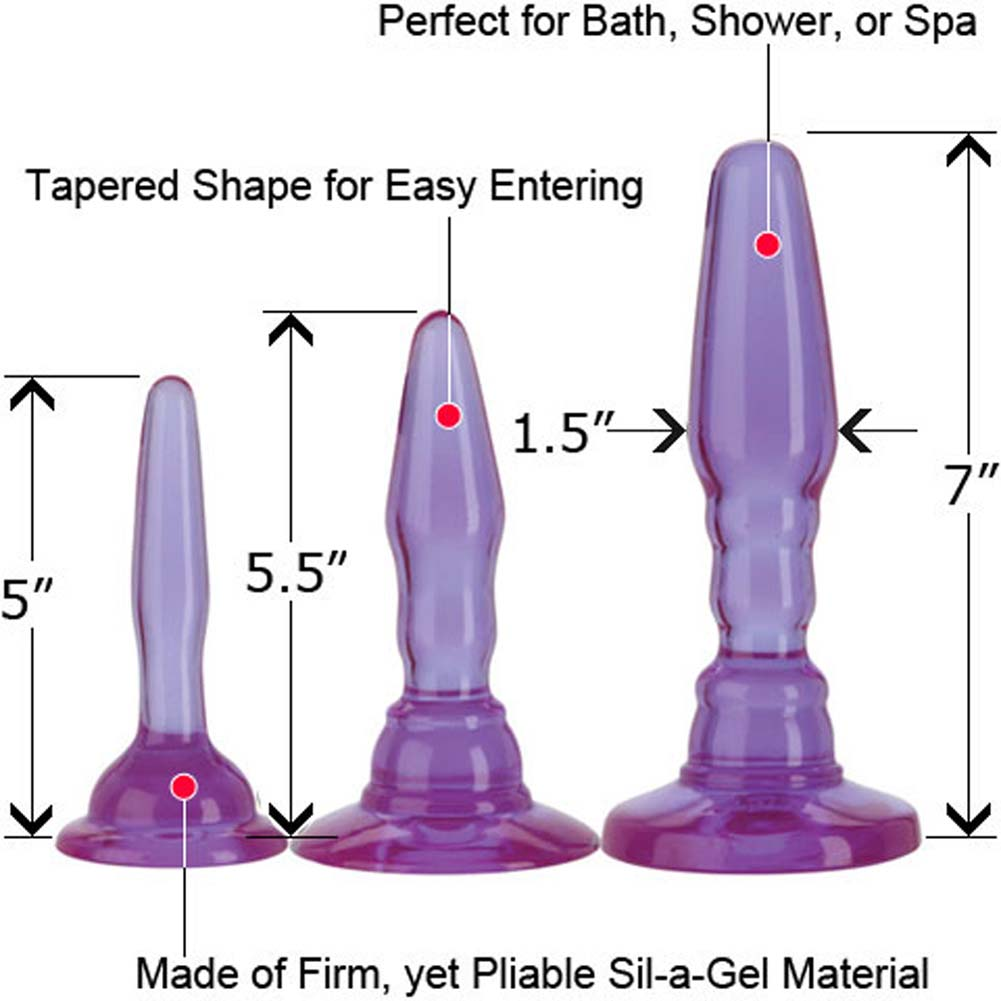 Wendy Williams Anal Trainer Kit with 3 Butt Plugs Purple - View #1