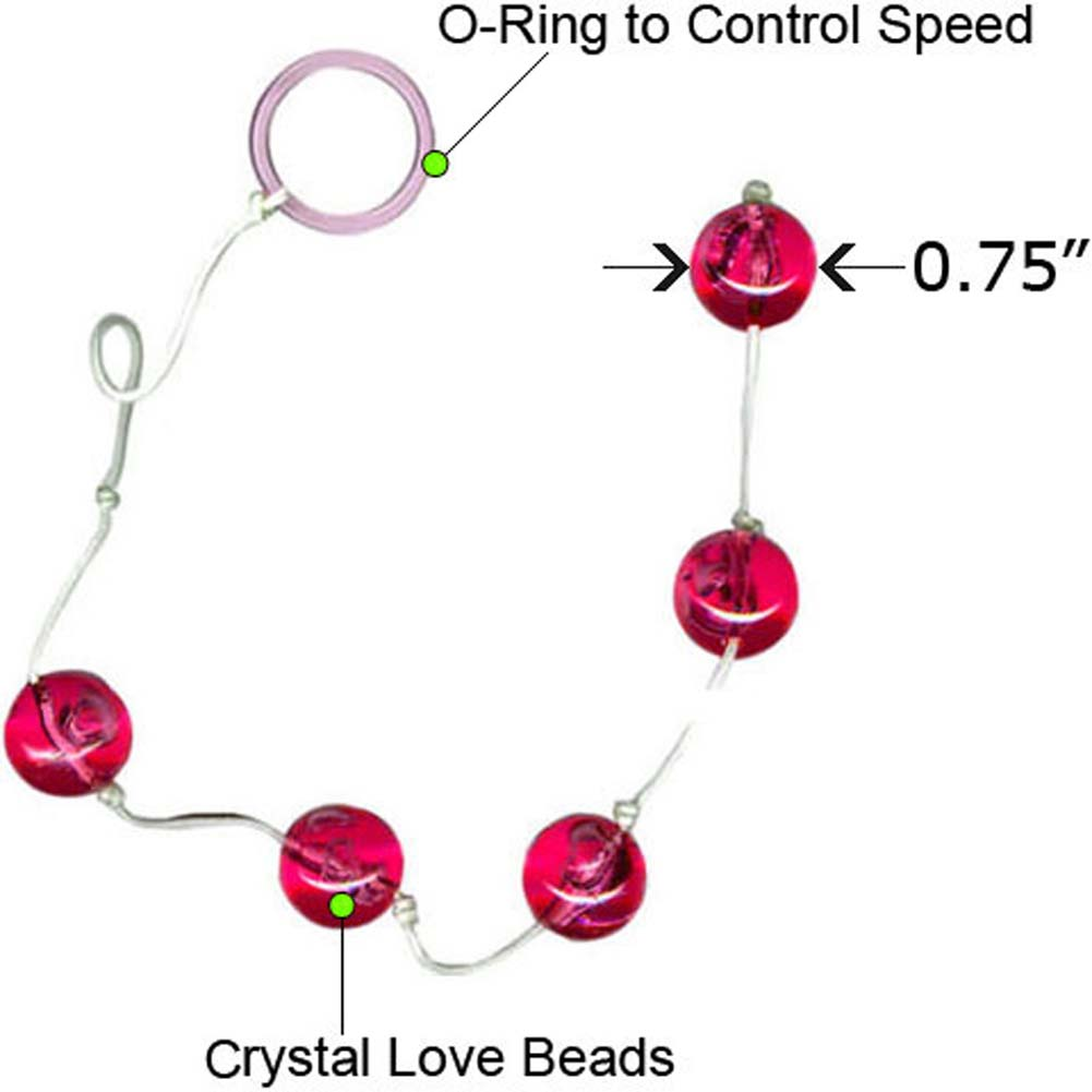 "Vivid Crystal Love Beads Devon 0.75"" Large Hot Pink - View #1"