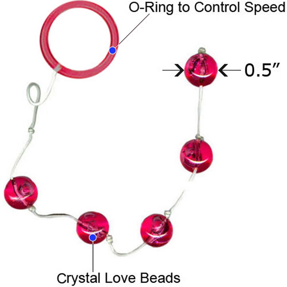 "Vivid Crystal Love Beads Dasha 0.5"" Small Hot Pink - View #1"