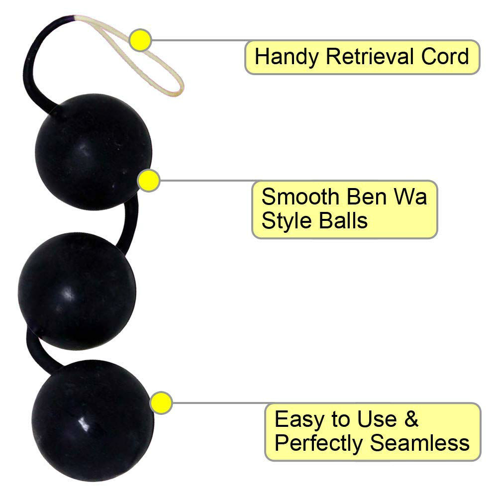 OptiSex First Time Love Balls - Weighted Kegel Exerciser for Women Black - View #1