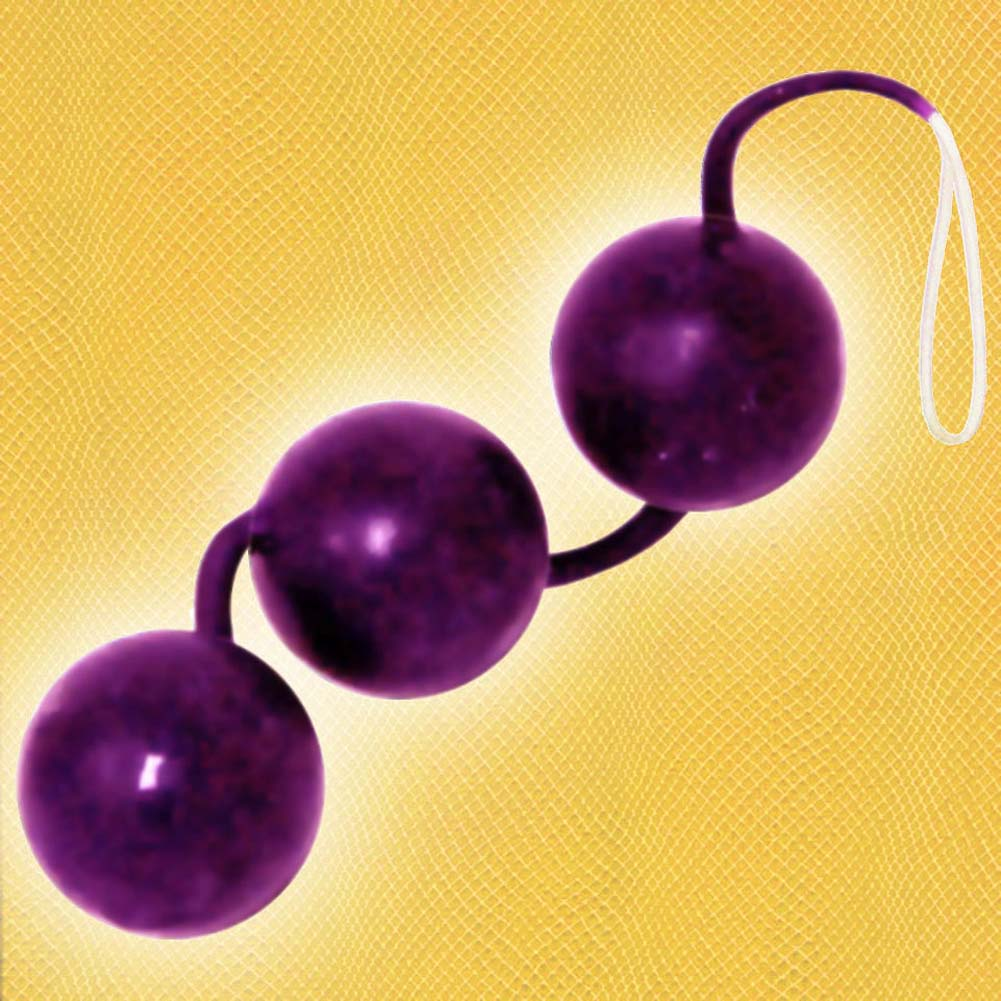 "OptiSex Her First Time Love Balls 1.5"" Diameter Purple - View #2"