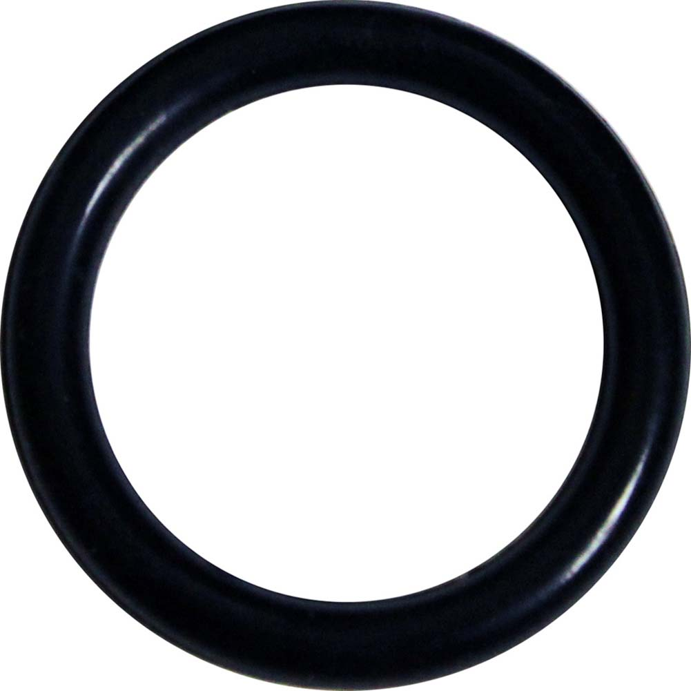OptiSex Premium Silicone Erection Control Ring Black Medium - View #2