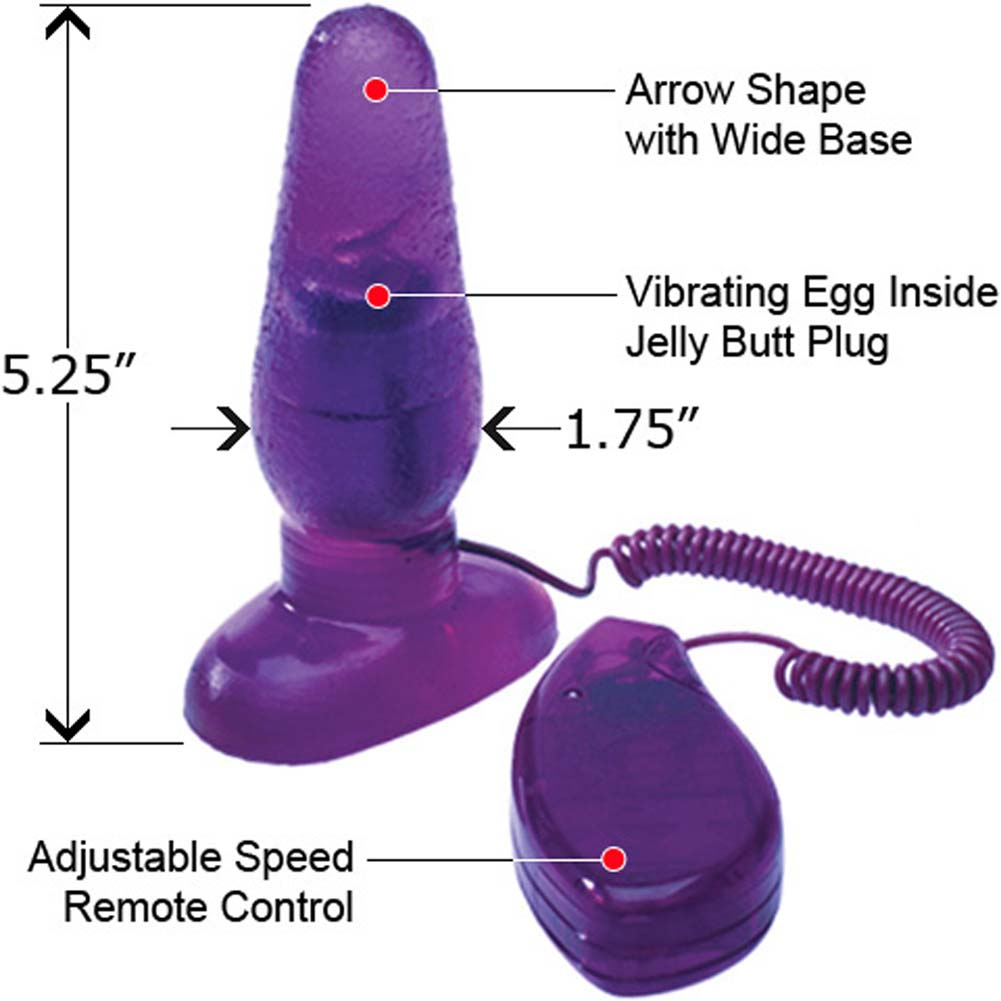"OptiSex Big Impact Vibrating Butt Plug for Lovers 5"" Naughty Purple - View #1"