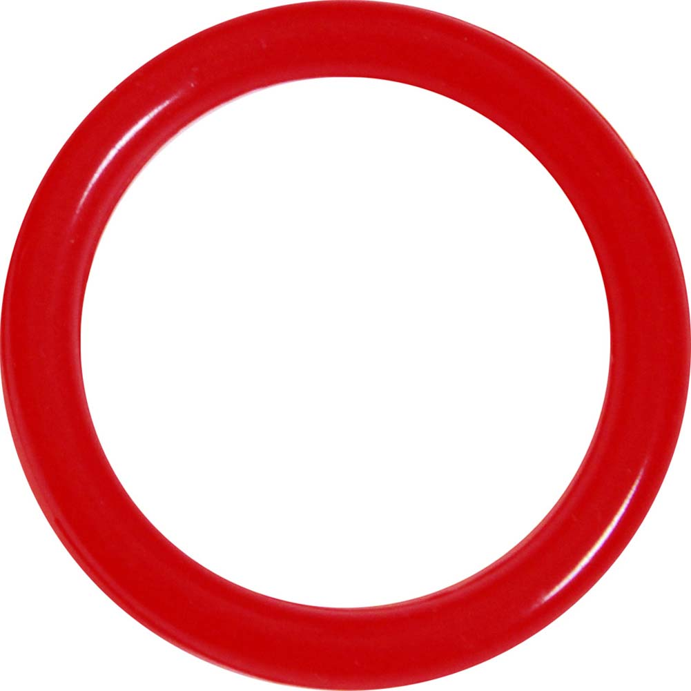 OptiSex Premium Silicone Erection Control Ring Hot Red Large - View #2