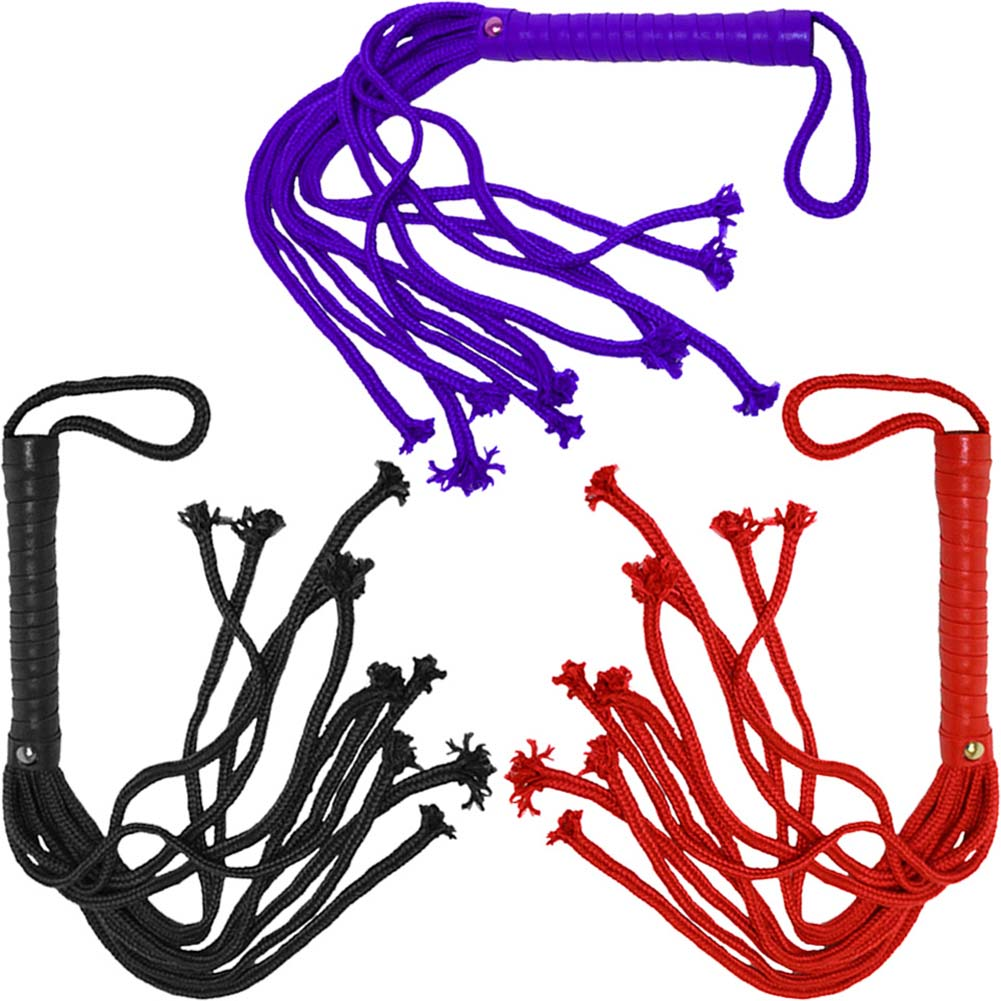 "OptiSex Soft Rope Flogger 24"" ASSORTED COLORS - View #2"