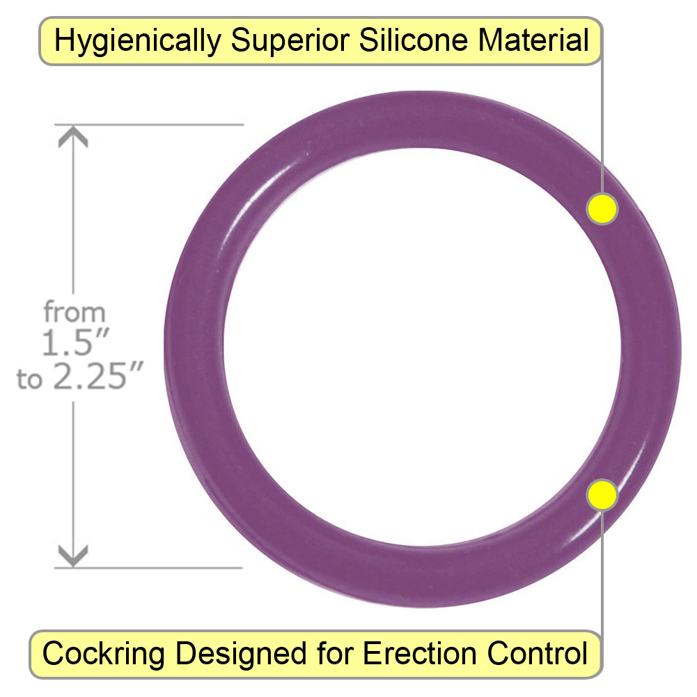 OptiSex Premium Silicone Erection Control Ring Set for Men Lavender - View #1