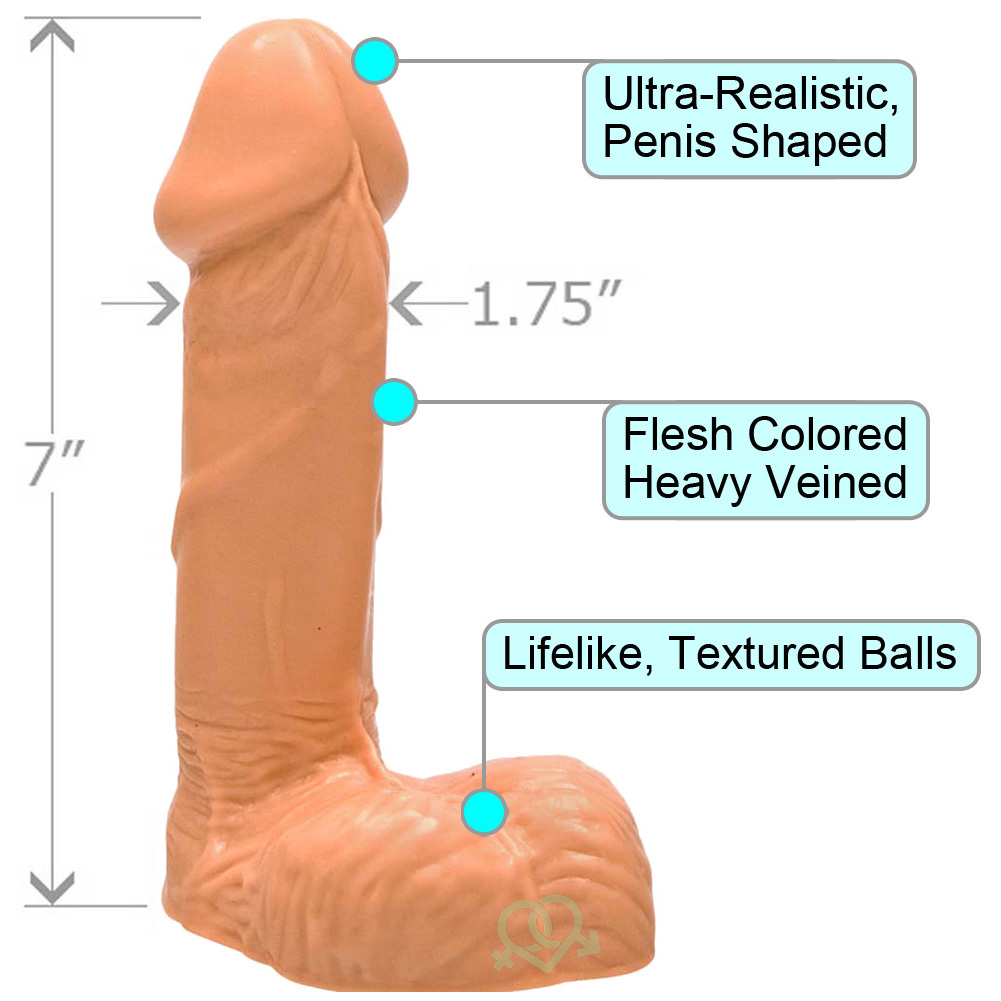 "Realistic 6"" Veined Cock with Balls ASSORTED COLORS - View #1"