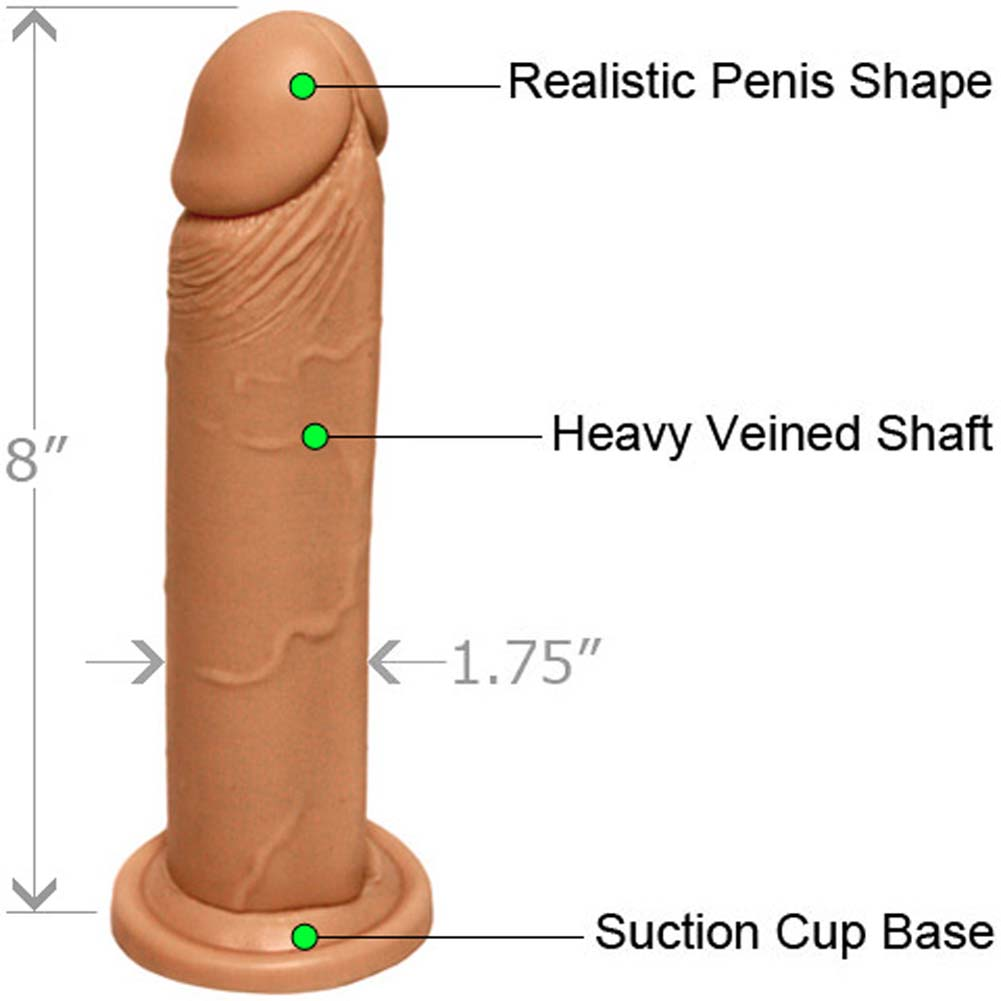 "Realistic Cock with Suction Base 8"" ASSORTED COLORS - View #1"