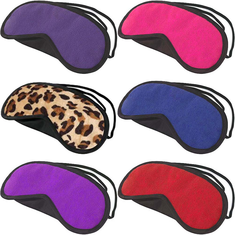 Velvet Double Strap Blindfold Eye Mask ASSORTED COLORS - View #2