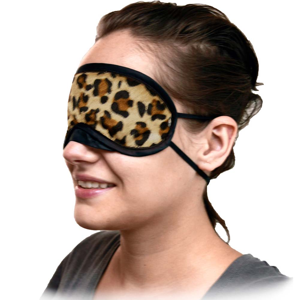 Velvet Double Strap Blindfold Eye Mask ASSORTED COLORS - View #4