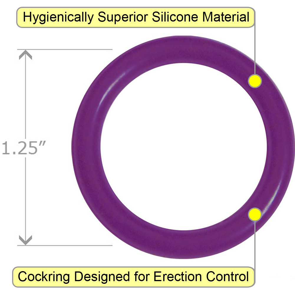 OptiSex Super Silicone Cockring Small Purple - View #1