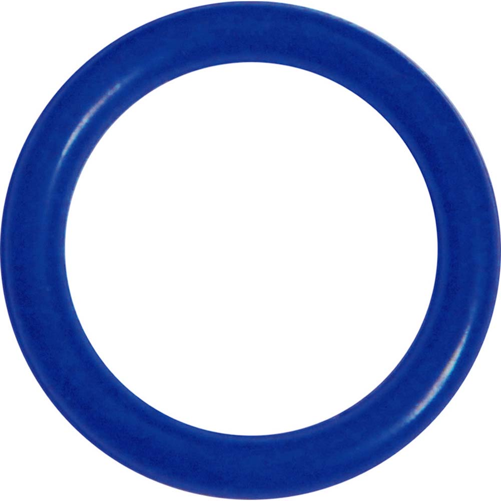 OptiSex Super Silicone Erection Control Cock Ring Extra Small 28mm Blue - View #2