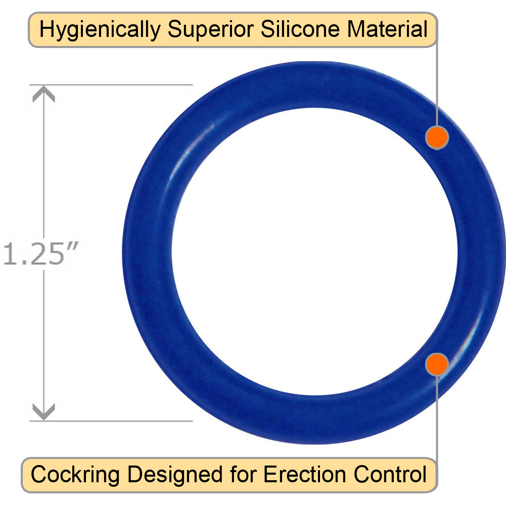 OptiSex Super Silicone Erection Control Cock Ring Small 31mm Blue - View #1