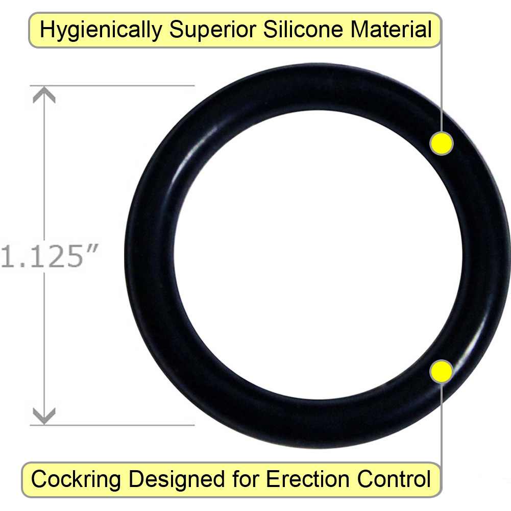OptiSex Super Silicone Cockring Extra Small Black - View #1