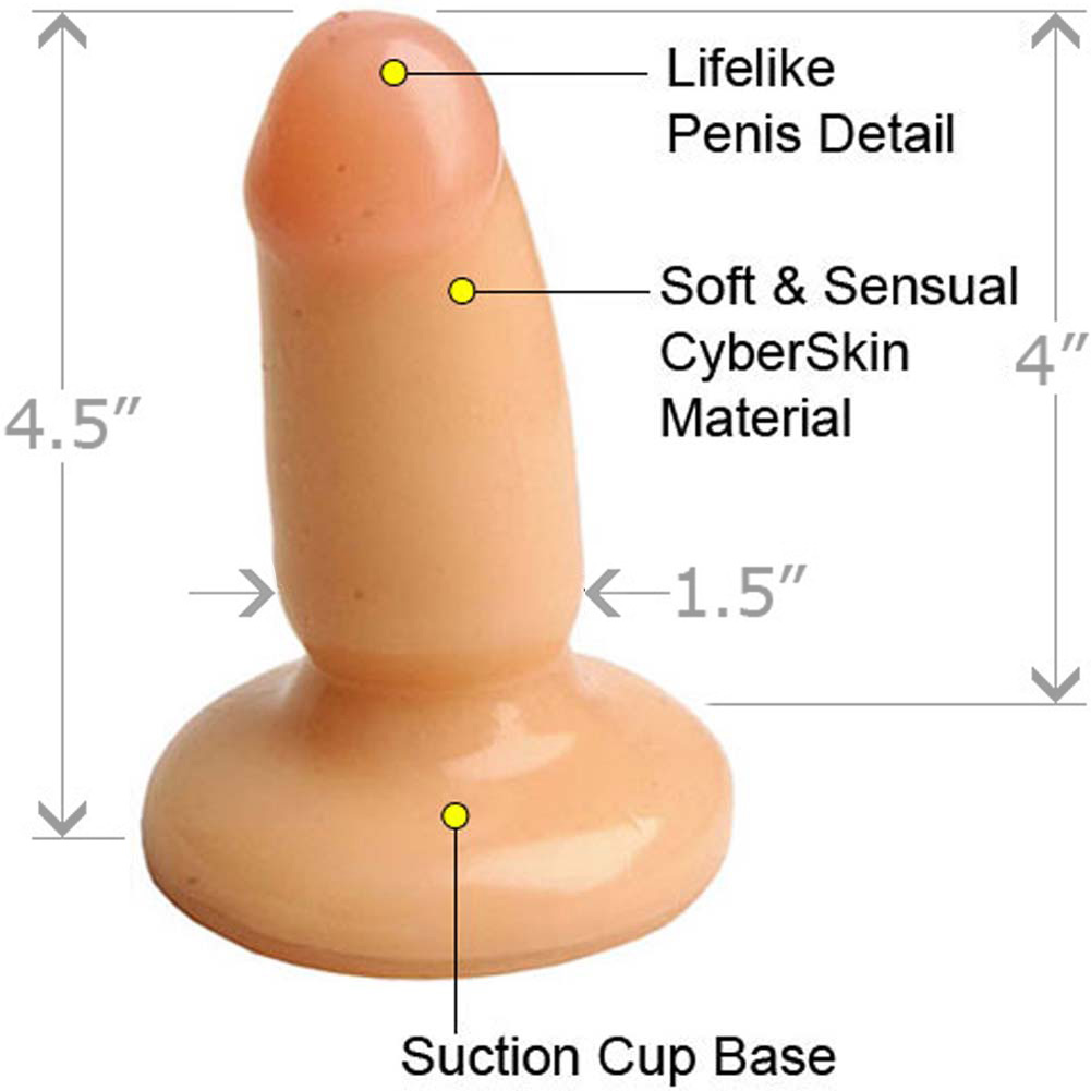 "Little Stud Butt Plug 4.5"" and OptiSex Clear Joy Premium Anal Lube Combo 4 Fl.Oz 120 mL - View #3"