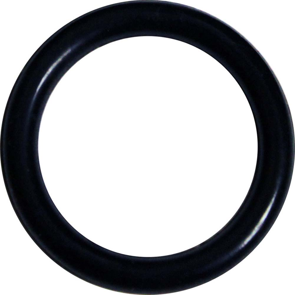 "OptiSex Super Silicone Cockring Medium 1.5"" 38 Mm Black - View #2"
