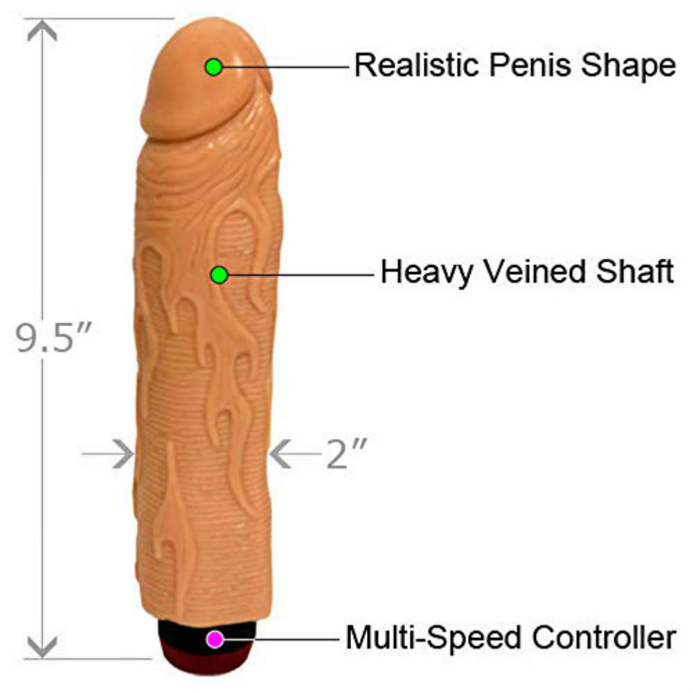 "OptiSex Hot Rod Vibrating Dong for Sensual Play 9"" Assorted Colors - View #1"