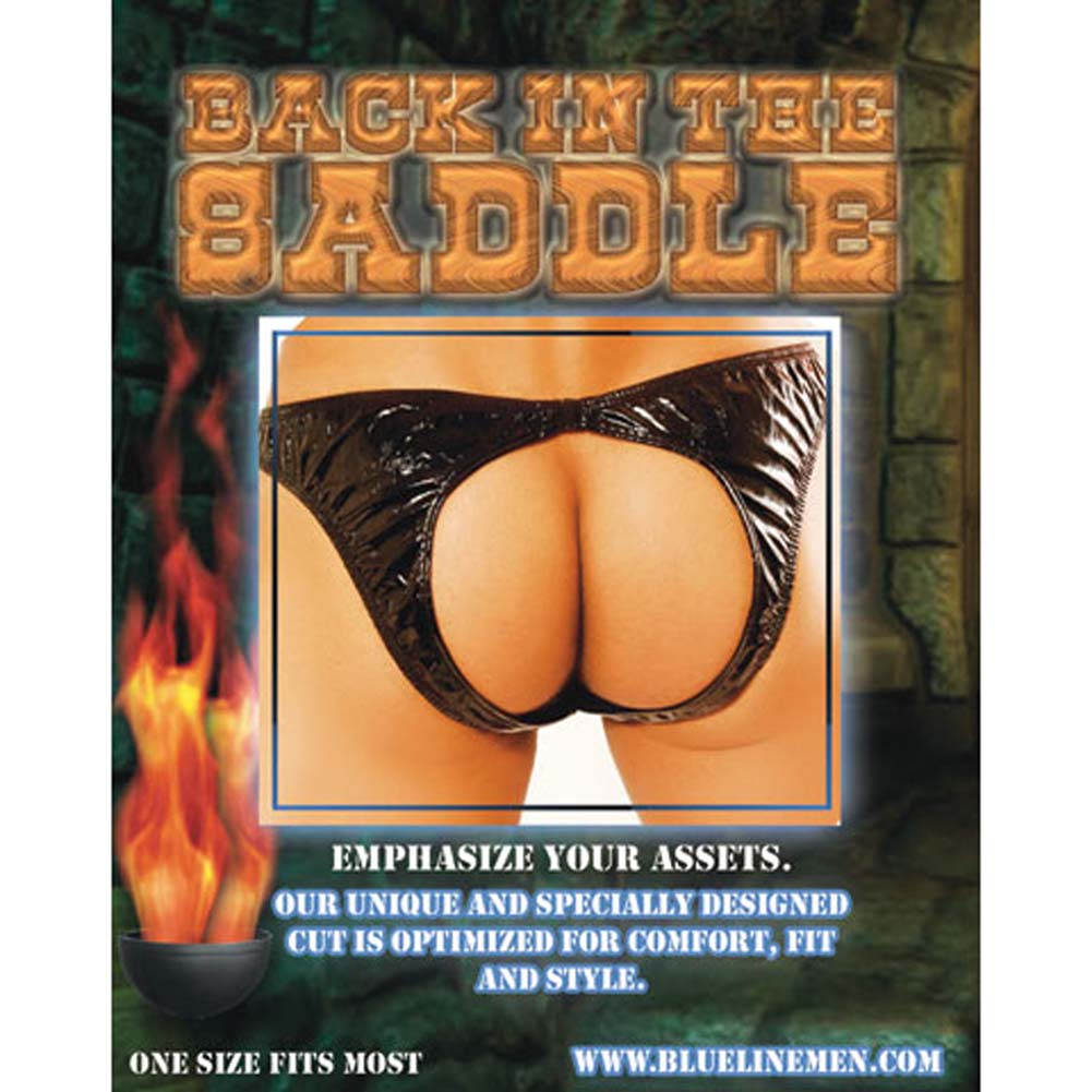 Back in the Saddle Male Open Crotch Backless Panty - View #1