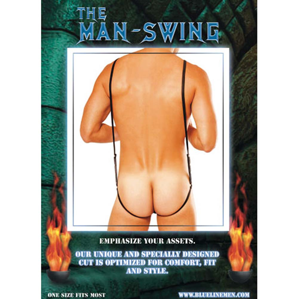 Man Swing Pouch Thong with Suspenders - View #1