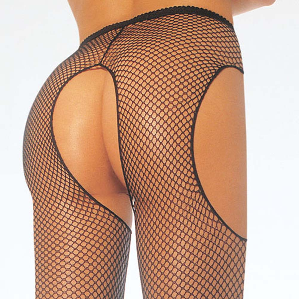 Fishnet Suspender Pantyhose Black - View #2