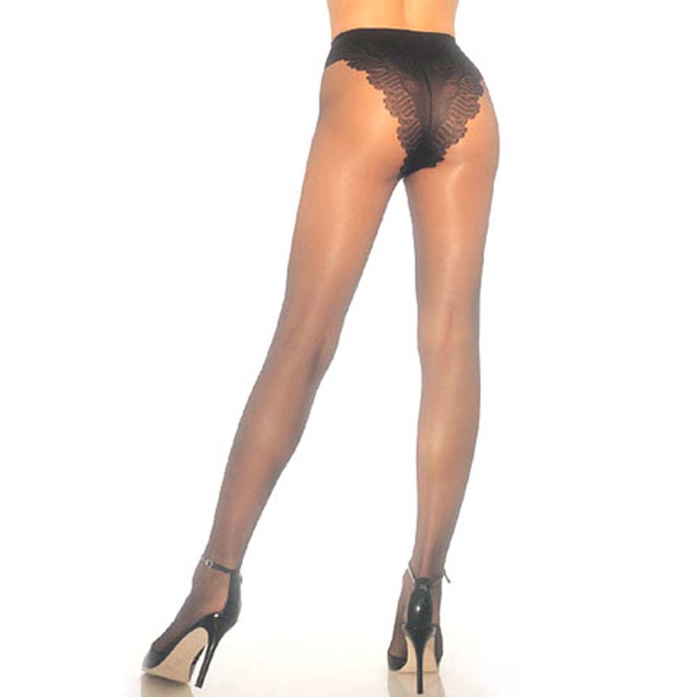 French Cut Support Pantyhose Black - View #1