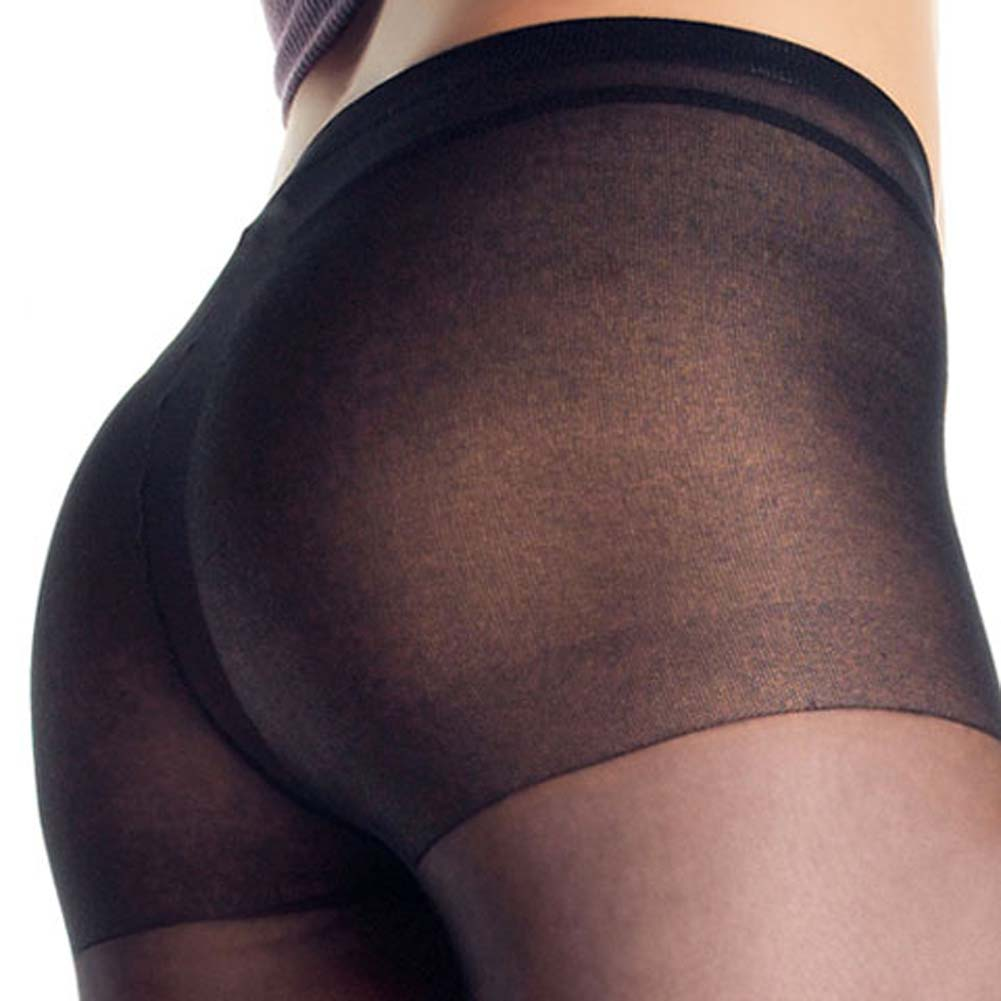 Dragon Tattoo Sheer Pantyhose Black - View #3