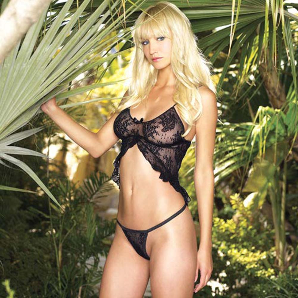 Spanish Lace Babydoll with G-String - View #2