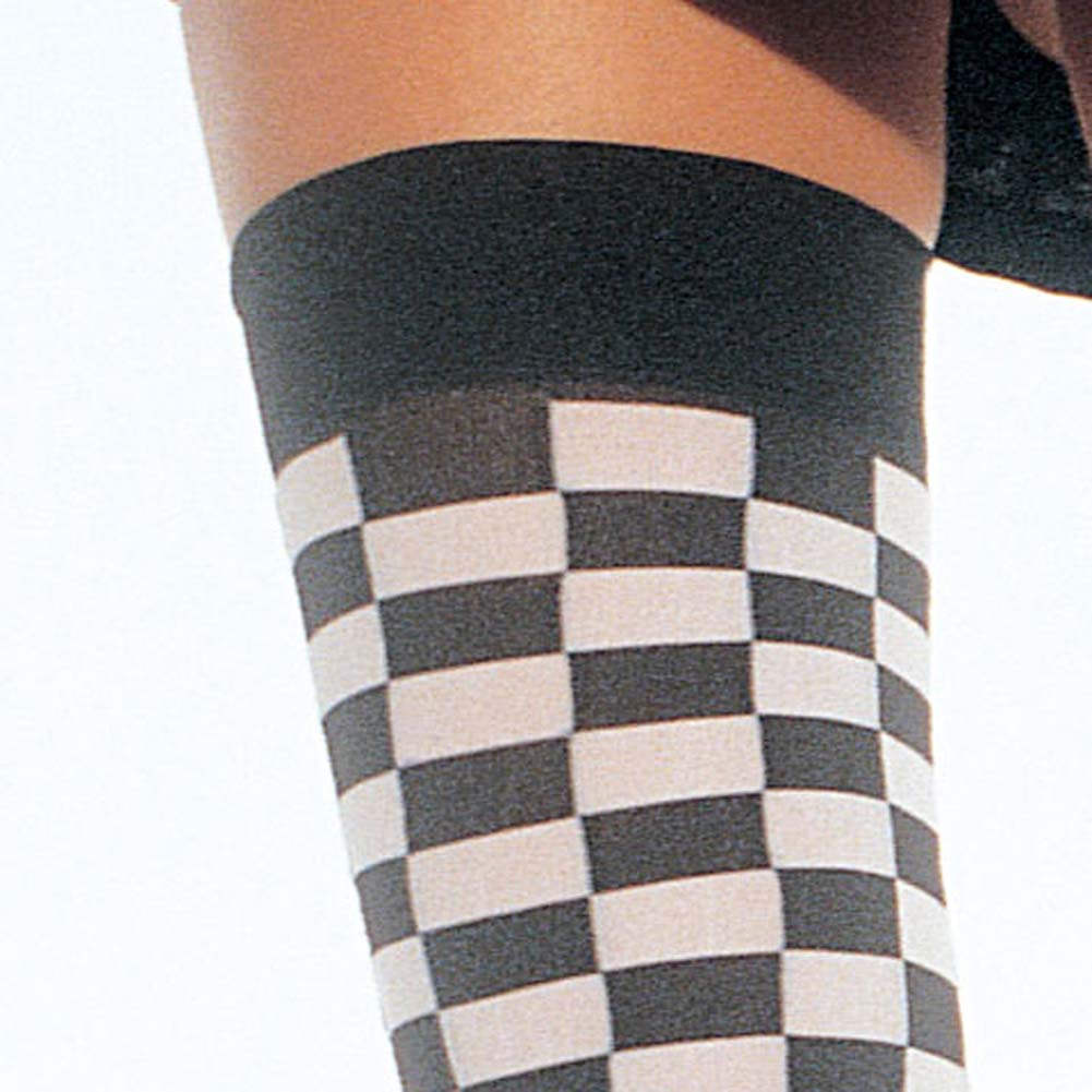 Checkerboard Thigh Hi - View #3