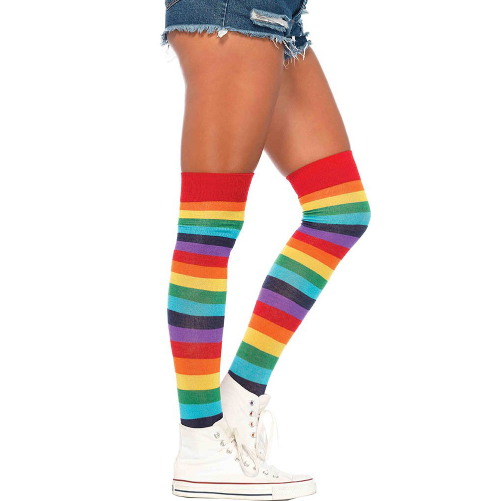Lycra Acrylic Rainbow Thigh Hi One Sze - View #2