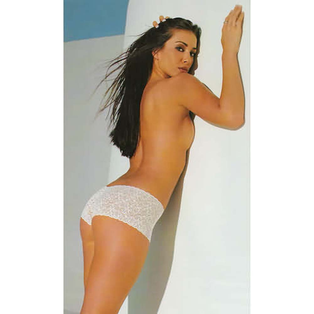 Lace Tanga Shorts White - View #1