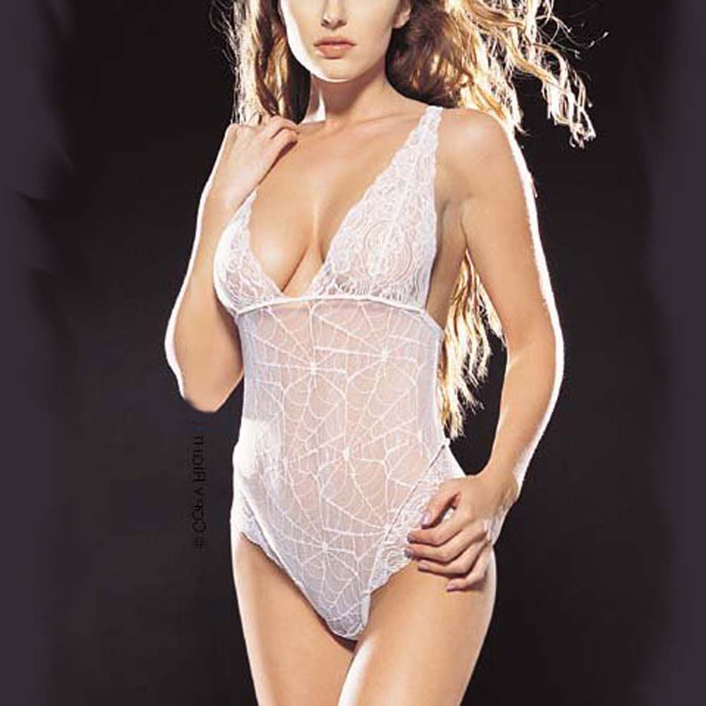Spider Web Lace Teddy White - View #1