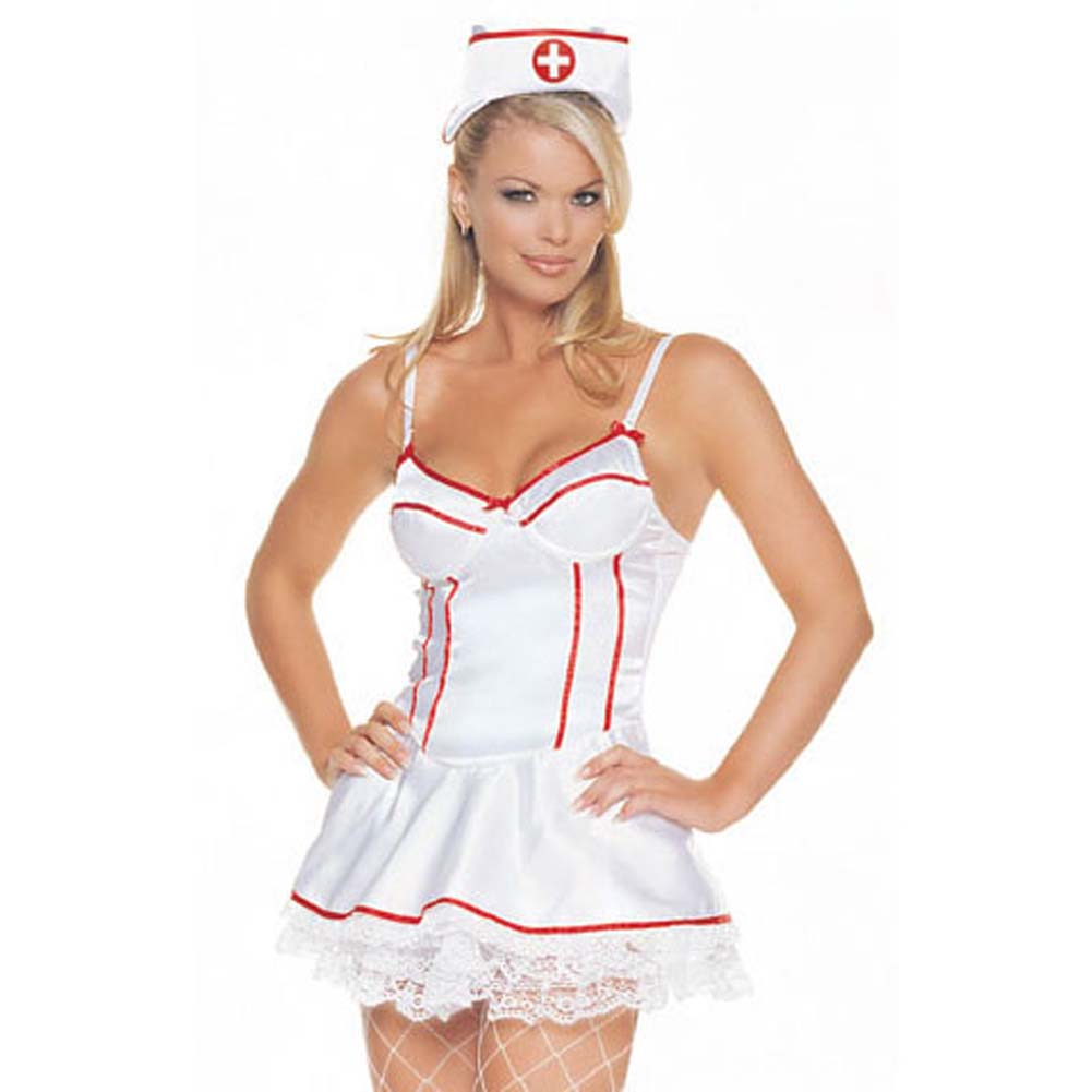 Satin Underwired Nurse Outfit 2 Pc Small Size - View #2