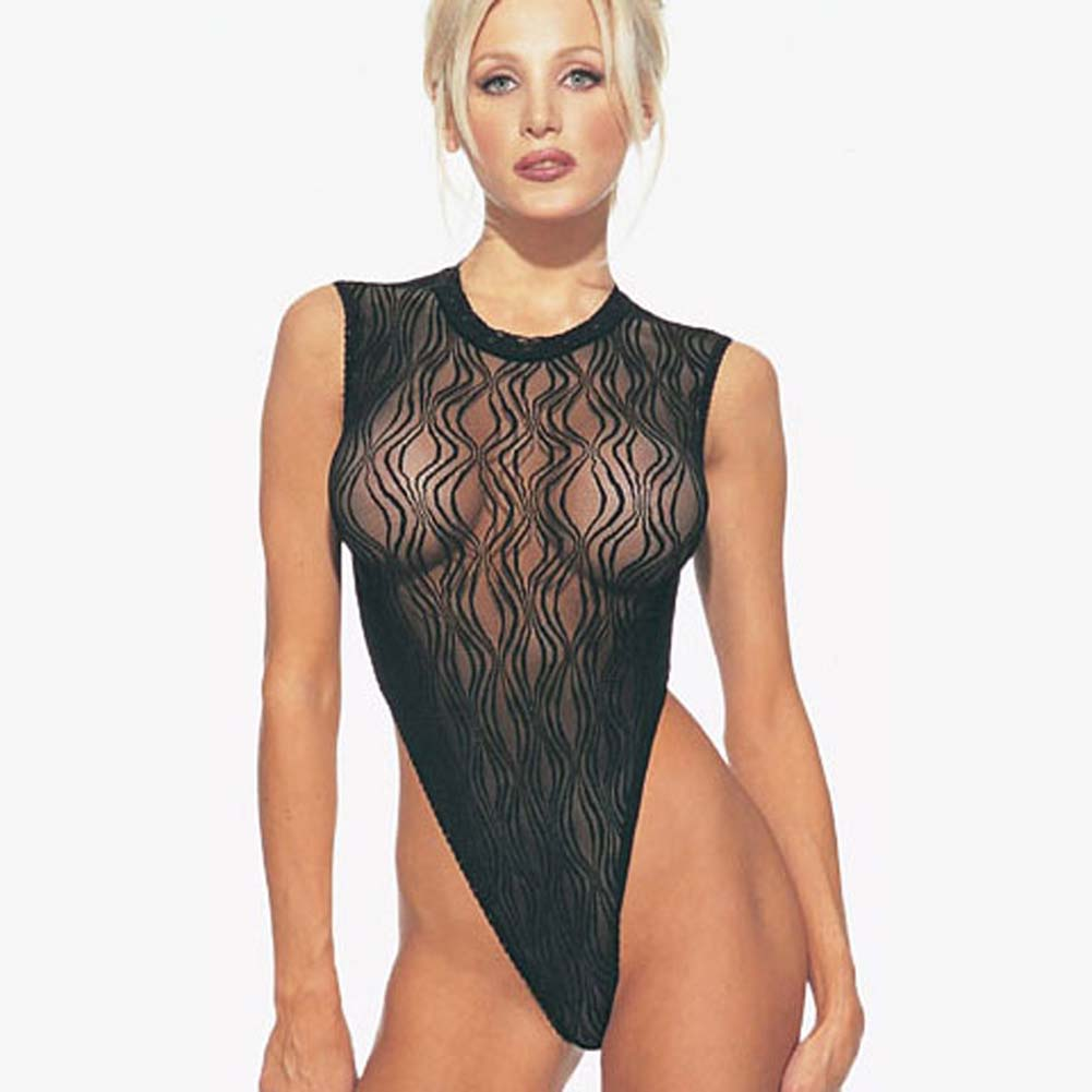 Swirl Lace Bodysuit with Snap Closure - View #1