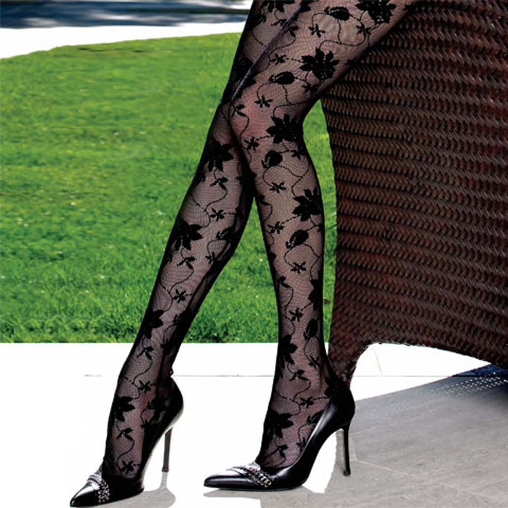 Lace Open Crotch Bodystocking with Chain Link Straps - View #3