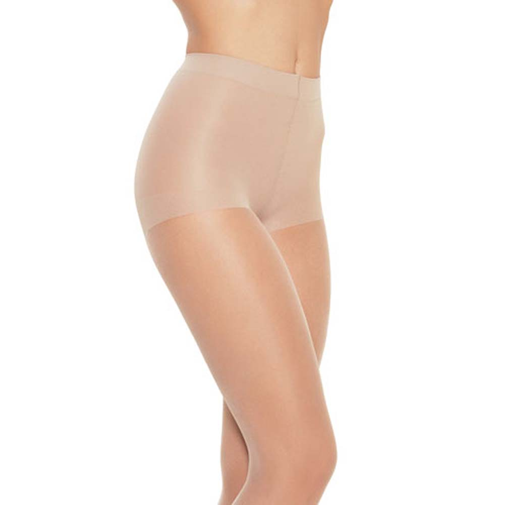 Leg Avenue Shaping Control Top Pantyhose One Size White - View #1