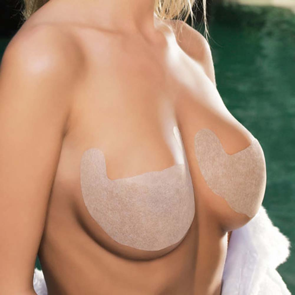 Solid Invisible Bra Backless and Strapless Nude Size C - View #3